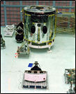 hubble mockup in cleanroom, 1