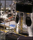 hubble mockup in cleanroom, 2